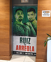 LOS ANGELES, CA - APRIL 28: Press conference for the Andy Ruiz Jr. vs Chris Arreola Fox Sports PBC Pay-Per-View in Los Angeles, California on April 28, 2021. The PPV fight is on May 1, 2021 at Dignity Health Sports Park in Carson, CA. (Photo by Frank Micelotta/Fox Sports/PictureGroup)