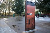 Permanent display boards, Speakers' Corner, Hyde Park, London.