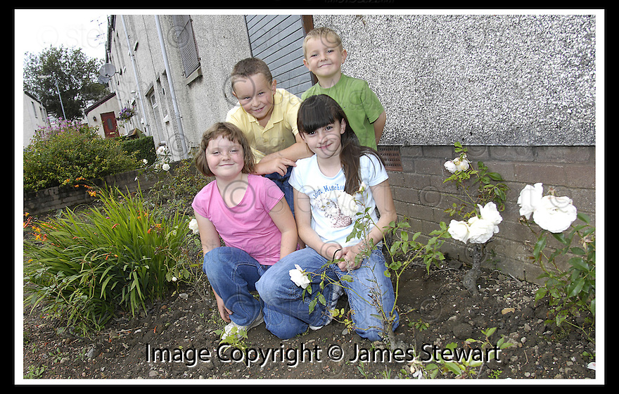 29/08/2007       Copyright Pic: James Stewart.File Name : 01_garden.CHILDREN FROM HALLGLEN IN THE COMMUNITY GARDEN THEY HOPE TO RESTORE.....James Stewart Photo Agency 19 Carronlea Drive, Falkirk. FK2 8DN      Vat Reg No. 607 6932 25.Office     : +44 (0)1324 570906     .Mobile   : +44 (0)7721 416997.Fax         : +44 (0)1324 570906.E-mail  :  jim@jspa.co.uk.If you require further information then contact Jim Stewart on any of the numbers above........