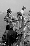Beatles George Harrison and John Lennon during filming of Magical Mystery Tour