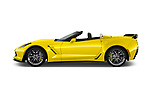 Car Driver side profile view of a 2018 Chevrolet Corvette Z06-3LZ 2 Door Convertible Side View