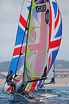 49 and 49erFX training in preparation for the ISAF world in Santander, Spain.
