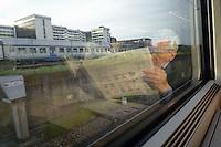 - passenger on board an high-speed  train Eurostar....- passeggero a bordo di un treno ad alta velocità Eurostar