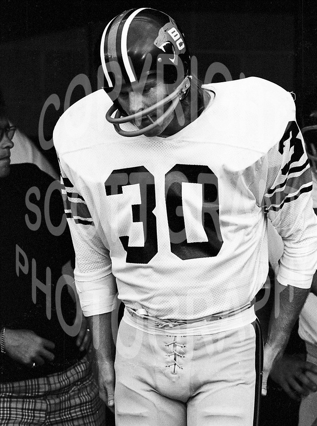 """Jim """"dirty 30"""" Young BC Lions 1974. Copyright photograph Scott Grant"""