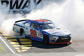 NASCAR XFINITY Series<br /> U.S. Cellular 250<br /> Iowa Speedway, Newton, IA USA<br /> Saturday 29 July 2017<br /> Ryan Preece, MoHawk Northeast Inc. Toyota Camry celebrates his win with a burnout <br /> World Copyright: Russell LaBounty<br /> LAT Images