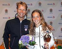 13-08-11, Tennis, Hillegom, Nationale Jeugd Kampioenschappen, NJK, Paula de Man en Jan Siemerink