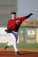 August 16 2009: Shane Wolf of the Lancaster JetHawks during game against the Bakersfield Blaze at Clear Channel Stadium in Lancaster,CA.  Photo by Larry Goren/Four Seam Images