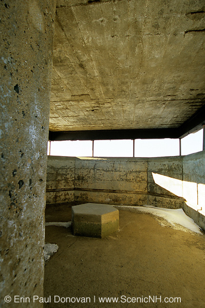 Inside Battery Chapin at Fort Foster, which is an old Military base located in Kittery, Maine USA, in Portsmouth Harbor, which is part of the New England seacoast.