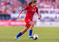 PHILADELPHIA, PA - AUGUST 29: Tobin Heath #17 of the United States sprints upfield during a game between Portugal and the USWNT at Lincoln Financial Field on August 29, 2019 in Philadelphia, PA.