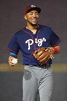 Lehigh Valley IronPigs shortstop J.P. Crawford (3) during a game against the Buffalo Bisons on July 9, 2016 at Coca-Cola Field in Buffalo, New York.  Lehigh Valley defeated Buffalo 9-1 in a rain shortened game.  (Mike Janes/Four Seam Images)