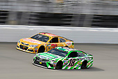 Monster Energy NASCAR Cup Series<br /> Pure Michigan 400<br /> Michigan International Speedway, Brooklyn, MI USA<br /> Sunday 13 August 2017<br /> Kyle Busch, Joe Gibbs Racing, Interstate Batteries Toyota Camry and Ryan Newman, Richard Childress Racing, Chevrolet SS<br /> World Copyright: Nigel Kinrade<br /> LAT Images