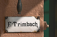 door sign and bell f e trimbach ribeauville alsace france