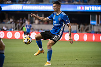 SAN JOSE, CA - SEPTEMBER 4: Paul Marie #3 of the San Jose Earthquakes controls the ball during a game between Colorado Rapids and San Jose Earthquakes at PayPal Park on September 4, 2021 in San Jose, California.