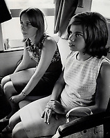 Quebec premier Daniel Johnson's daughter Diane, 16, right, goes to Windsor for a two-week exchange visit with Maria De Marco, 16. Maria, daughter of the vice-president of Windsor University, spent two weeks at Johnson cottage.<br /> <br /> PHOTO :  Gordon McCaffrey - Toronto Star Archives - AQP<br /> <br /> PHOTO :  Jeff Goode - Toronto Star Archives - AQP