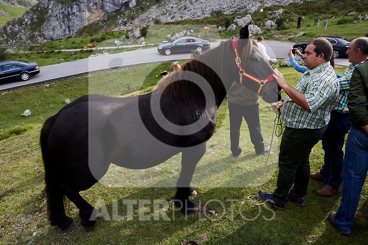 Xena visit the Enol lake in Asturias, Spain. September 08, 2018. (ALTERPHOTOS/A. Perez Meca)