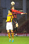Motherwell v St Johnstone.....01.01.14   SPFL<br /> Murray Davidson and Stuart Carswell<br /> Picture by Graeme Hart.<br /> Copyright Perthshire Picture Agency<br /> Tel: 01738 623350  Mobile: 07990 594431