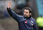 Dundee v St Johnstone....08.11.14   SPFL<br /> Paul Hartley waves at the fans<br /> Picture by Graeme Hart.<br /> Copyright Perthshire Picture Agency<br /> Tel: 01738 623350  Mobile: 07990 594431