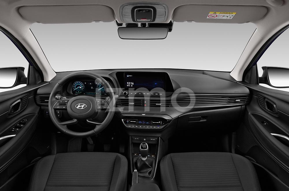 Straight dashboard view of a 2021 Hyundai i20 Sky 5 Door Hatchback