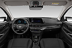 Stock photo of straight dashboard view of 2021 Hyundai I20 Sky 5 Door Hatchback Dashboard