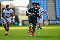 22nd November 2020; Ricoh Arena, Coventry, West Midlands, England; English Premiership Rugby, Wasps versus Bristol Bears; Juan de Jongh of Wasps sets off on a run down the wing