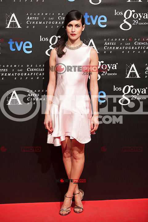 Nerea Barros poses before the 2015 Goya Awards nominee ceremony in Madrid, Spain. January 19, 2015. (ALTERPHOTOS/Victor Blanco)