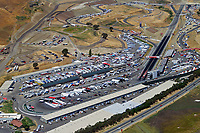 aerial photograph of the 2001 Winston Cup NASCAR race at Infineon raceway (Sears Point) Sonoma County, California