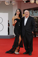 """VENICE, ITALY - SEPTEMBER 10: Mayra Pietrocola and Lino Banfi on the red carpet for the movie """"Un Autre Monde"""" during the 78th Venice International Film Festival on September 10, 2021 in Venice, Italy.<br /> CAP/GOL<br /> ©GOL/Capital Pictures"""