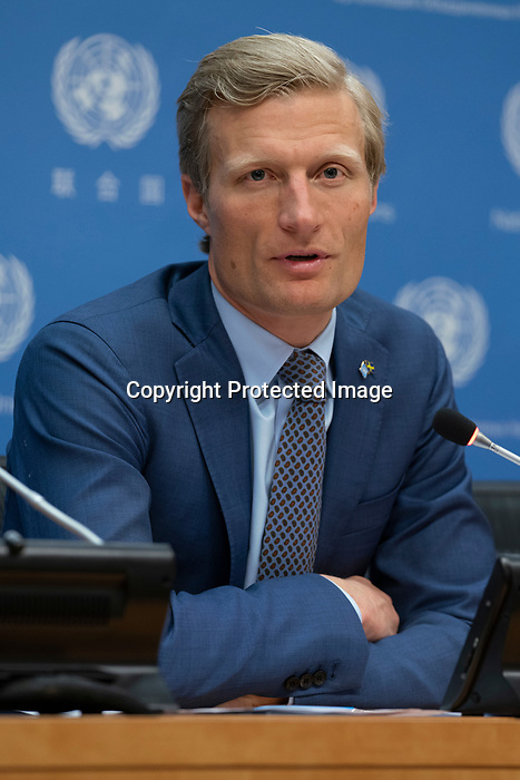 Press Briefing on Security Council Retreat in Sweden<br /> Carl Skau, Security Council Coordinator of Sweden to the UN, briefs journalists on the upcoming UN Security Council retreat in Sweden.