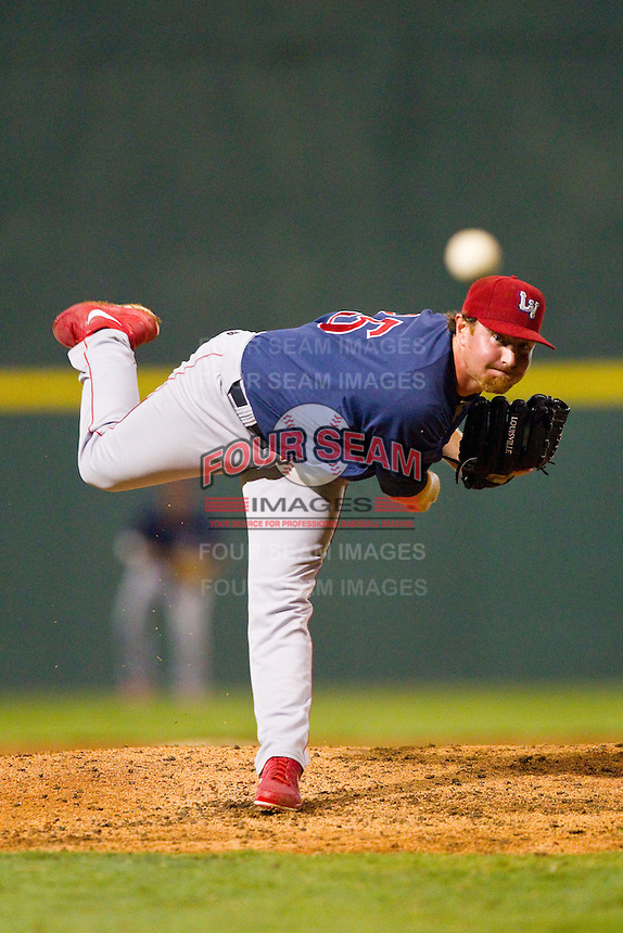 Lehigh Valley IronPigs relief pitcher B.J. Rosenberg (35) in action against the Charlotte Knights at Knights Stadium on August 6, 2013 in Fort Mill, South Carolina.  The IronPigs defeated the Knights 4-1.  (Brian Westerholt/Four Seam Images)
