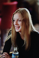 ID :pr_99-09-04-D  6.jpg<br /> D&K :  1999 File Photo of<br /> Canadian actress Sarah Polley who refused to be photographed while waiting to give interviews to Montreal newspapers for the promotion of a movie.<br /> Photo by Pierre Roussel, © 1999