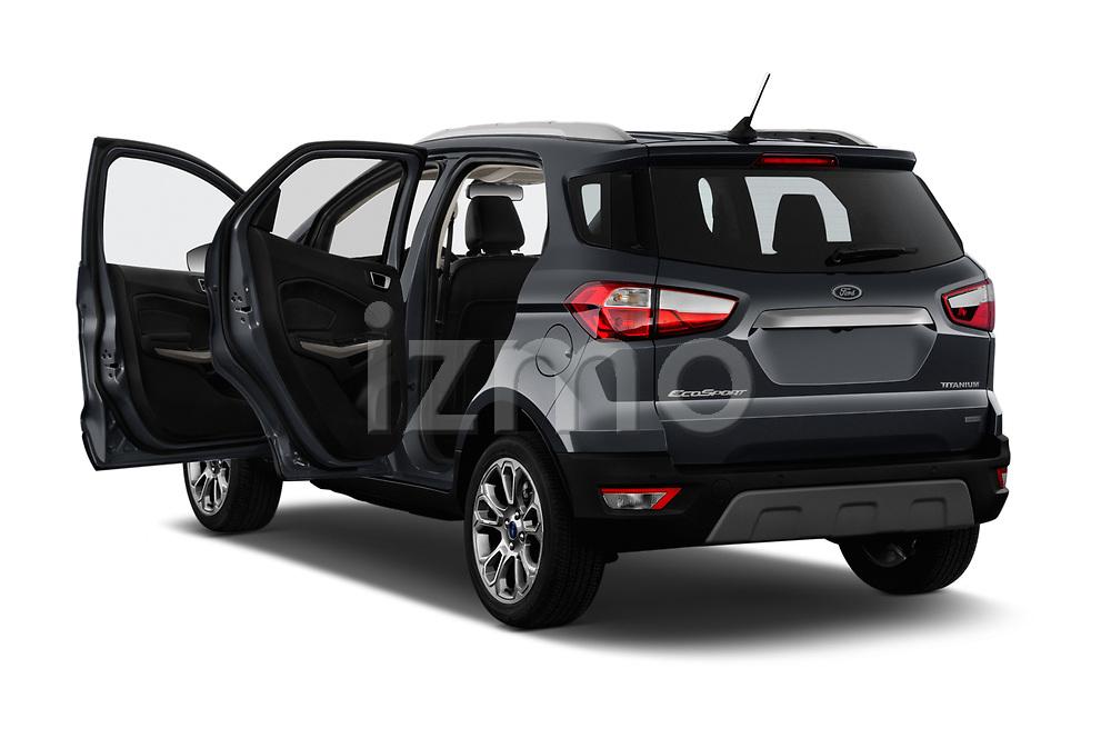 Car images close up view of a 2018 Ford Ecosport Titanium 5 Door SUV doors