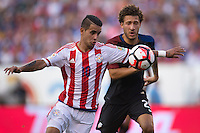 Action photo during the match United States vs Paraguay, Corresponding to  Group -A- of the America Cup Centenary 2016 at Lincoln Financial Field Stadium.<br /> <br /> Foto de accion durante el partido Estados Unidos vs Paraguay, Correspondiente al Grupo -A- de la Copa America Centenario 2016 en el Estadio Lincoln Financial Field , en la foto: (i-d) Derlis Gonzalez de Paraguay y Fabian Johnson de USA<br />  <br /> <br /> 11/06/2016/MEXSPORT/Osvaldo Aguilar.