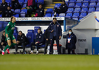 4th November 2020; Madejski Stadium, Reading, Berkshire, England; English Football League Championship Football, Reading versus Preston North End; Reading Manager Veljko Paunovic looks on from the touchline