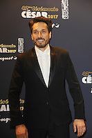 PARIS, FRANCE - FEBRUARY 24:Vincent Elbaz attends the Cesar's Dinner at Le Fouquet's on February 24, 2017 in Paris, France.