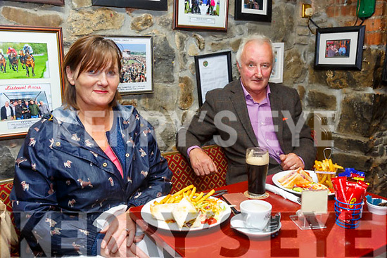 Behan's Horseshoe Bar, Listowel: Geraldine & Jim Woods, Tarbert enjoying their first meal in a retaurant in 3 months at Behan's Horseshoe Bar & Restaurant, Listowel on Monday evening last.