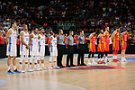 Spain team photo and Dominican Republic team photo during the Friendly match between Spain and Dominican Republic at WiZink Center in Madrid, Spain. August 22, 2019. (ALTERPHOTOS/A. Perez Meca)