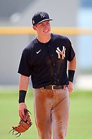 FCL Yankees second baseman Cooper Bowman (29) during a game against the FCL Tigers West on July 31, 2021 at Tigertown in Lakeland, Florida.  (Mike Janes/Four Seam Images)