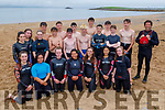 The group of swimmers who took to the water for the fund raising swim for the Cardiac unit at Kerry University Hospital from Derrymore to Fenit on Saturday