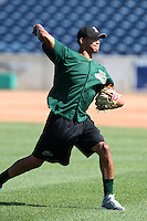 Clinton LumberKings Taijuan Walker #26 during practice before a game against the West Michigan Whitecaps at Fifth Third Ballpark on July 23, 2011 in Comstock Park, Michigan.  West Michigan defeated Clinton 2-1.  (Mike Janes/Four Seam Images)
