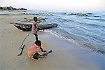 Boys Fishing With Net