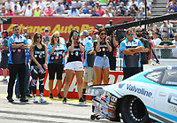 Sep 4, 2017; Clermont, IN, USA; Crew members for NHRA pro stock driver Tanner Gray during the US Nationals at Lucas Oil Raceway. Mandatory Credit: Mark J. Rebilas-USA TODAY Sports