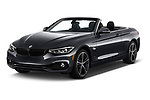 2018 BMW 4 Series 430i 2 Door Convertible angular front stock photos of front three quarter view