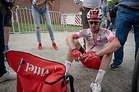 race winner Kenneth Vanbilsen (BEL/Cofidis) post-finish<br /> <br /> Dwars door het Hageland 2019 (1.1)<br /> 1 day race from Aarschot to Diest (BEL/204km)<br /> <br /> ©kramon
