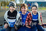 Enjoying the playground in the Listowel town park on Thursday, l to r: Callum Horgan, Orla Enright and Harry Horgan.