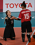 Jolan Wong and Felicia Voss-Shafiq, Tokyo 2020 - Sitting Volleyball // Volleyball Assis.<br /> Canada takes on Brazil in the sitting volleyball bronze medal match // Le Canada affronte le Brésil dans le match pour la médaille de bronze en volleyball assis. 09/4/2021.