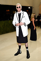 """Pete Davidson attends The Metropolitan Museum of Art's Costume Institute benefit gala celebrating the opening of the """"In America: A Lexicon of Fashion"""" exhibition on Monday, Sept. 13, 2021, in New York. (Photo by Evan Agostini/Invision/AP)"""