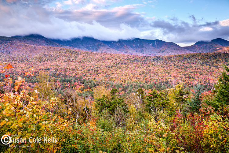 Fall foliage and the Osceolas in the White Mountain National Forest, NH, USA