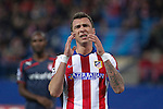Atletico de Madrid´s Mandzukic regrets missing a goal opportunity during Champions League soccer match between Atletico de Madrid and Olympiacos at Vicente Calderon stadium in Madrid, Spain. November 26, 2014. (ALTERPHOTOS/Victor Blanco)