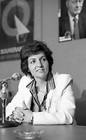 Montreal (Qc) CANADA - June 10 1984-Nadia Assimopoulos, Vice-President Parti Quebecois at Parti Quebecois 9th convention