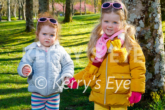 Ready to enjoy a stroll in Muckross Gardens Killarney on Saturday, l to r: Abbie and Elsie Mary Lynch.